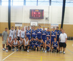 Fran Rafferty, top row, second from left, spent part of his summer playing basketball overseas in Germany and the Czech Republic. -- Fran Rafferty / Submitted photo