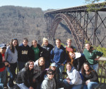 Students who went on last year's Appalachia trip pose for a group photo.