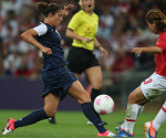 Carli Lloyd scored both goals for the US women's soccer team to lead them to a 2-1 win over Japan in the gold-medal game at the 2012 Olympics. (MCT)
