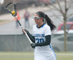 Lacie Doubet scored five goals in the Lady Cavs' 17-9 win over Alvernia University on Wednesday, March 27. Doubet has 17 goals on the season. (Cabrini Athletics / Submitted Photo)