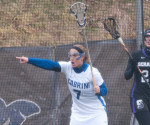 Kaitlyn Smith (No. 7) alerting her fellow teammate of an oncoming attacker. (Cabrini Athletics/Submitted Photo)