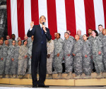 President of the United States Barak Obama visited Al Faw Palace on Camp Victory, Iraq April 7.  This was Obama's first visit to Iraq as commander in chief and made time to talk to service members and civilians serving here.