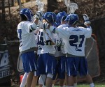 Men's lacrosse ended a three game losing streak with a win against Neumann University. PHOTO TAKEN BY:  HOPE DALUISIO