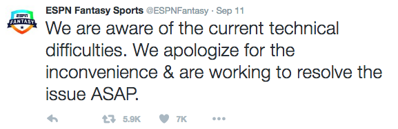 Why my ESPN fantasy football app did not work - Loquitur
