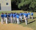 The team gathers in practice. Photo by Cabrini Athletics