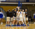 Womens basketball team gets ready before the game.
