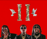 The cover art for Culture II. Featuring Offset, Quavo, and Takeoff