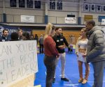 Here is an image taken at Cabrini Day during the student presentations. (Photo taken on the Cabrini Universities' flickr page).