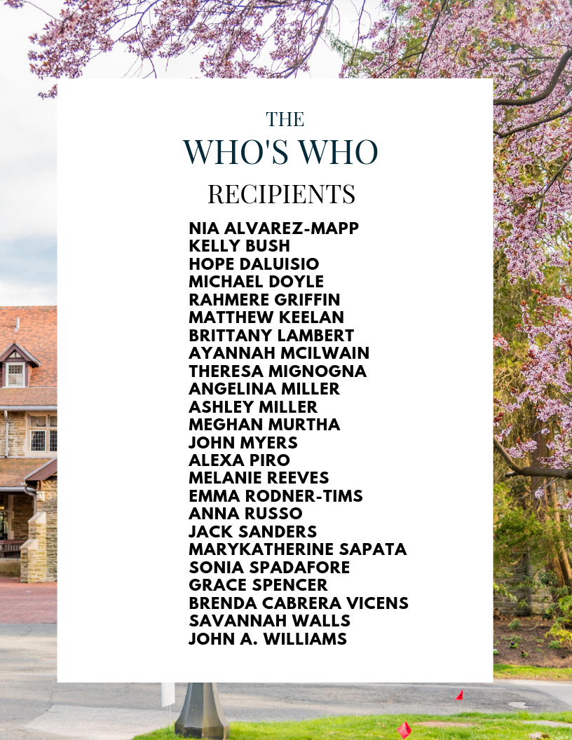 24 seniors receive the Who's Who award