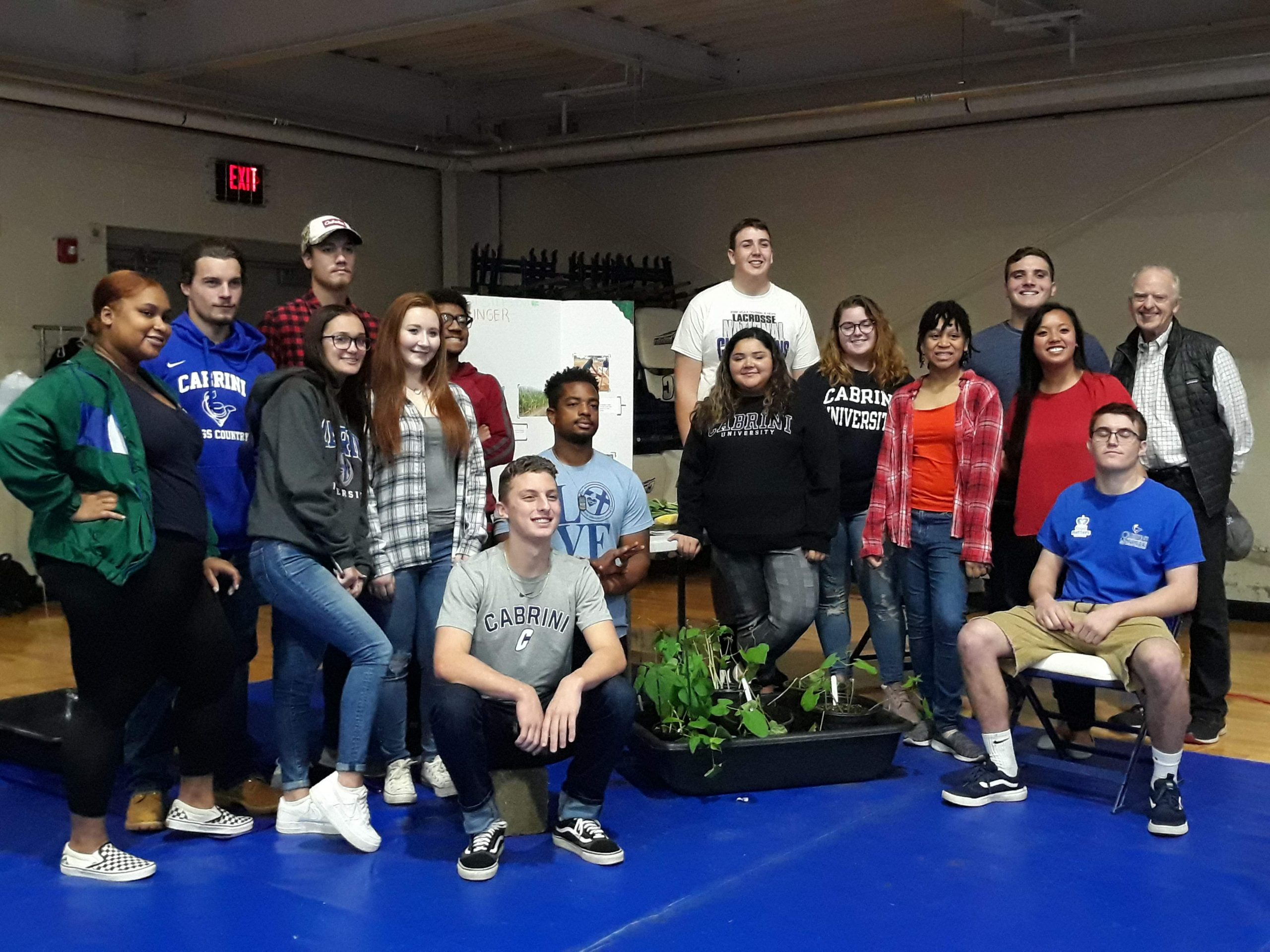 Cabrini students advocate for those in global poverty on Cabrini Day